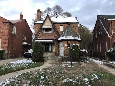 Detroit Single Family Home For Sale: 18040 Indiana Street