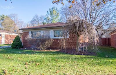 Farmington Hills Single Family Home For Sale: 23208 Ashley Street