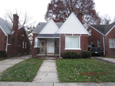 Detroit Single Family Home For Sale: 13765 Wadsworth Street