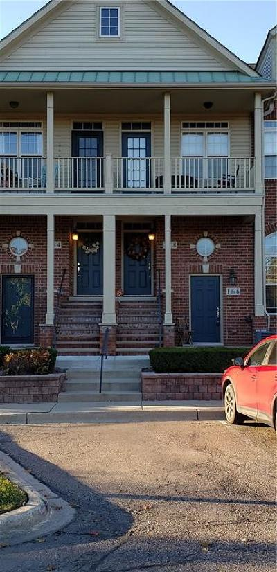 Walled Lake Condo/Townhouse For Sale: 166 Club House Circle