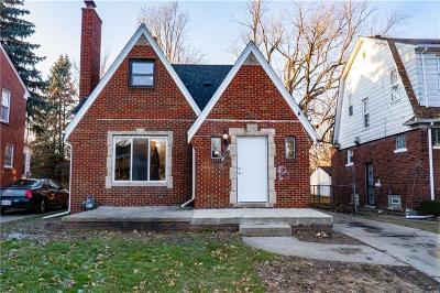 Detroit Single Family Home For Sale: 12115 Lansdowne Street