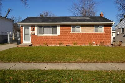 Westland MI Single Family Home For Sale: $124,900