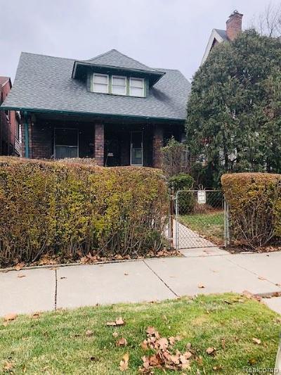 Detroit Single Family Home For Sale: 1793 Seyburn Street
