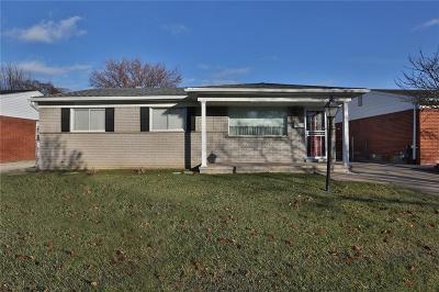 Allen Park Single Family Home For Sale: 18820 Goddard Road