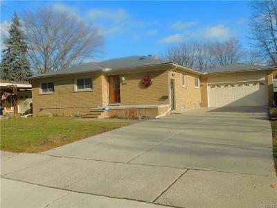 Allen Park Single Family Home For Sale: 9647 Andrews Avenue
