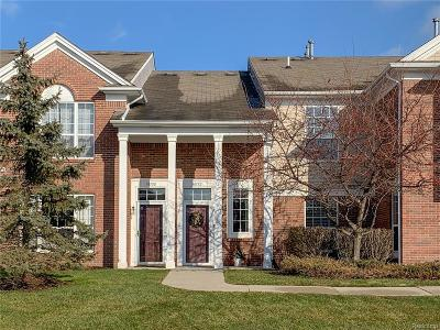 Northville Twp Condo/Townhouse For Sale: 16772 Dover Drive