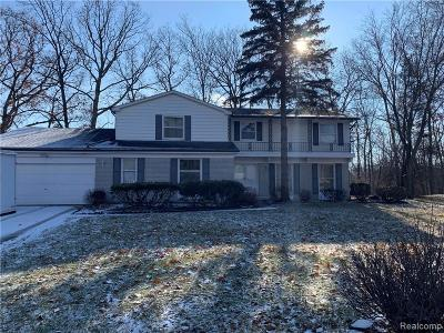 West Bloomfield Twp Single Family Home For Sale: 4275 Whitebirch Drive