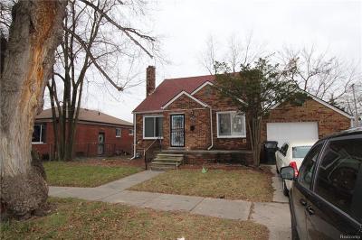 Detroit Single Family Home For Sale: 19217 Sunset Street
