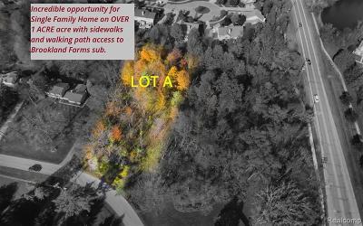 Novi Residential Lots & Land For Sale: 43468 Cottisford Street