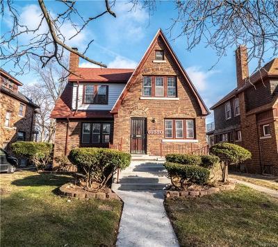 Detroit Single Family Home For Sale: 16550 Ashton Avenue