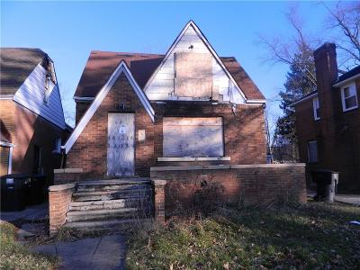 Detroit Single Family Home For Sale: 14956 Sussex Street