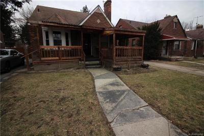Detroit Single Family Home For Sale: 12600 Elmdale Street