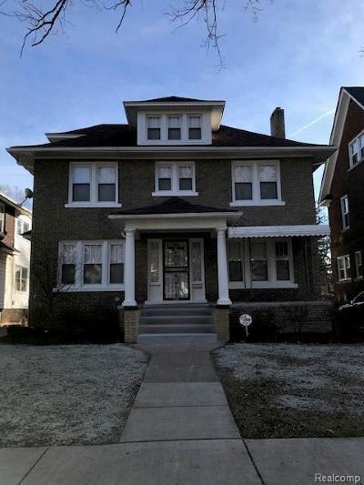 Detroit Single Family Home For Sale: 1459 Longfellow Street