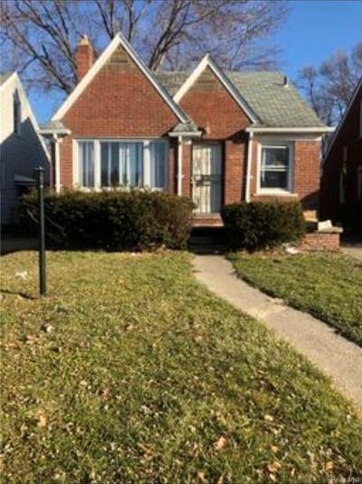 Detroit Single Family Home For Sale: 17660 Runyon Street