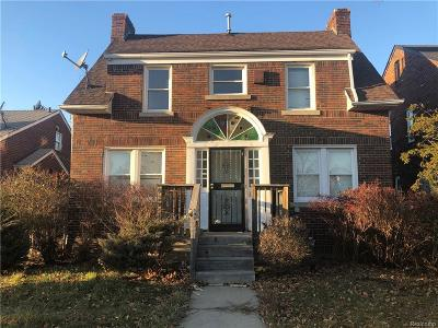 Detroit Single Family Home For Sale: 11145 E Outer Drive