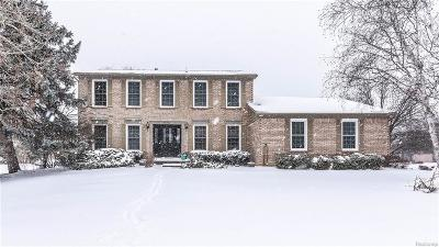 Farmington, Farmington Hills Single Family Home For Sale: 37700 Stableview Drive