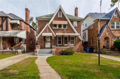 Detroit Single Family Home For Sale: 17358 Pennington Drive Drive