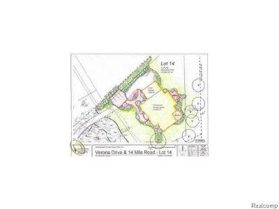 West Bloomfield Twp MI Residential Lots & Land For Sale: $199,000