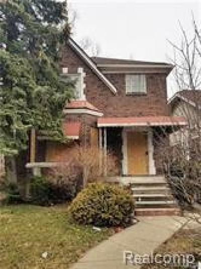 Detroit Single Family Home For Sale: 3286 Waverly Street
