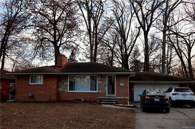 Southfield Single Family Home For Sale: 18759 Nadol Drive