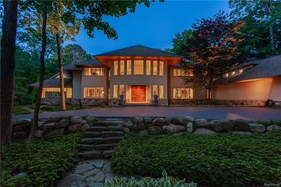 Bloomfield Hills MI Single Family Home For Sale: $2,795,000