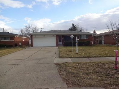 STERLING HEIGHTS Single Family Home For Sale: 11272 Forrer Drive