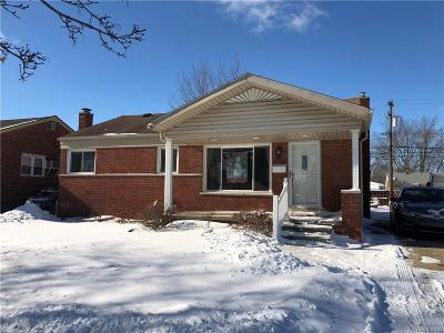 Southgate MI Single Family Home For Sale: $145,000
