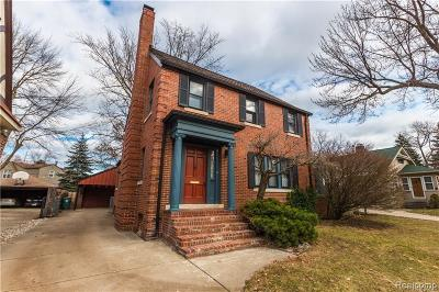 ROYAL OAK Single Family Home For Sale: 1616 Crooks Road