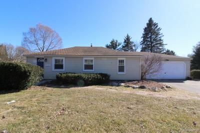 City Of The Vlg Of Clarkston, Clarkston, Independence Twp Single Family Home For Sale: 5125 Clarkston Road