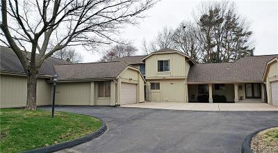 Bloomfield Twp Condo/Townhouse For Sale: 1845 Golf Ridge Drive