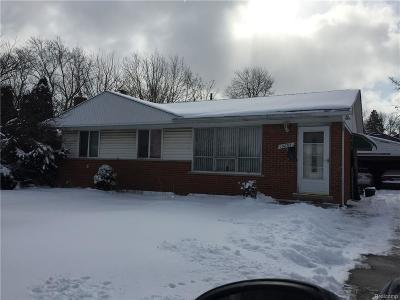 Southfield Single Family Home For Sale: 15855 W 13 Mile Road