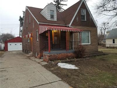 Hazel Park Single Family Home For Sale: 1141 George Avenue
