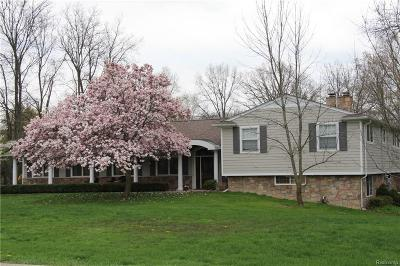 Bloomfield Twp Single Family Home For Sale: 6035 Old Orchard Drive