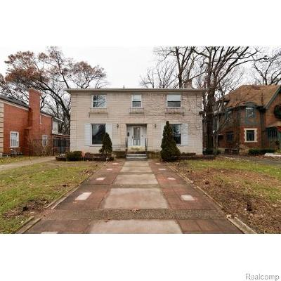 Detroit Single Family Home For Sale: 3430 Sherbourne Rd