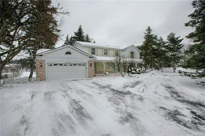 West Bloomfield, West Bloomfield Twp Single Family Home For Sale: 5076 Watergate Road