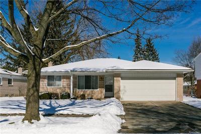 Livonia Single Family Home For Sale: 35626 Leon Street