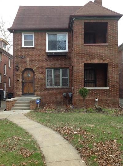 Detroit Multi Family Home For Sale: 4741 W Buena Vista Street