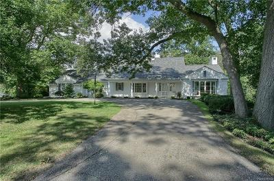 Bloomfield Hills MI Single Family Home For Sale: $1,090,000