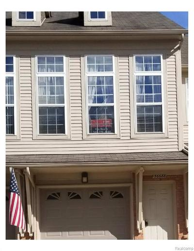 Shelby Twp Condo/Townhouse For Sale: 56688 Long Island Drive