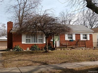 Royal Oak Single Family Home For Sale: 3620 Benjamin Avenue