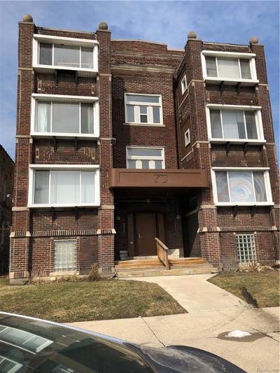 Detroit Multi Family Home For Sale: 73 E Palmer Street