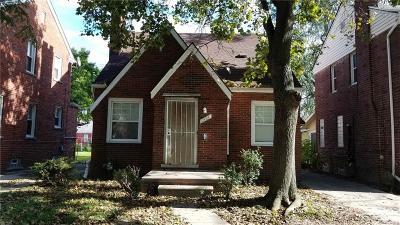 Detroit Single Family Home For Sale: 10924 Whitehill Street