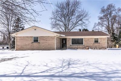 NOVI Single Family Home For Sale: 24117 Woodham