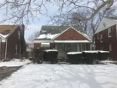 Detroit Single Family Home For Sale: 13685 Edmore Drive