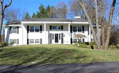 Bloomfield, Bloomfield Hills, Bloomfield Twp, West Bloomfield, West Bloomfield Twp Single Family Home For Sale: 4900 Lahser Road