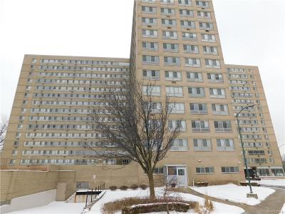 Detroit Condo/Townhouse For Sale: 8900 E Jefferson Avenue #112