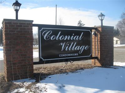 Waterford Twp Condo/Townhouse For Sale: 1868 Colonial Village Way