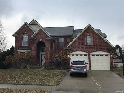 NOVI Single Family Home For Sale: 40620 Camborne Lane