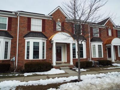 Novi Condo/Townhouse For Sale: 41740 Brownstone Drive