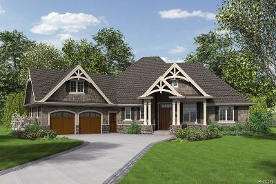 Highland Twp Single Family Home For Sale: Lot 44 Wildflower